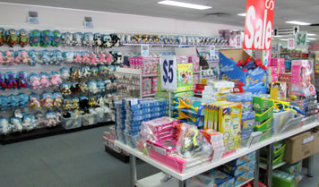 Toy Outlet Store Inside Sale Banner