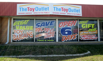Toy Outlet Store Outside